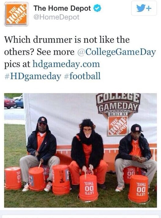 A shocking tweet that was sent out by Home Depot