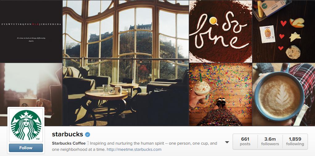 Photoss on Starbucks Instagram account