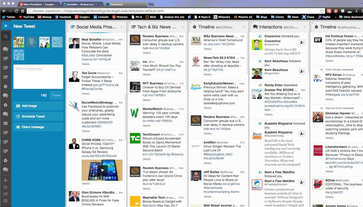 TweetDeck screen