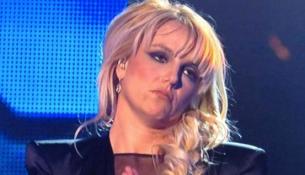 Britney Spears sad face