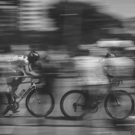Cyclists fast